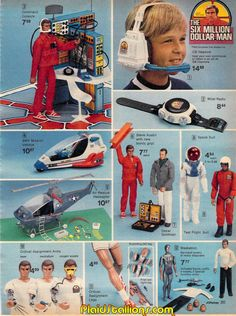 Lee Majors as Steve Austin in The Six Million Dollar Man Action Figure and Accessories by Kenner Ad, c. 1976
