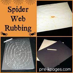 Spider Web Rubbing for Preschool
