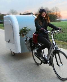 Wohnwagenanhänger fürs Fahrrad! #fahrrad #fahrradanhänger #fahrradwohnwagen #miniwohnwagen #campen #camping #ecoreisen