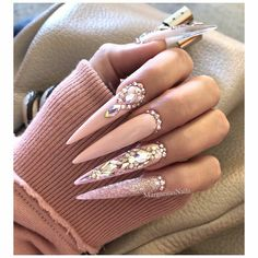 Nail style very beautiful for girls long nail