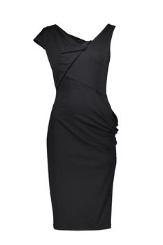 The Marais jersey dress with asymmetric cuts. The layered structure creates a flattering silhouette. Silhouette, My Style, Classic, Shopping, Collection, Black, Green, Dresses, Fashion