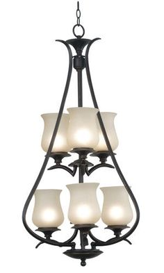 Bienville 6 Light Foyer-Oil Rubbed Bronze Finish at Menards- this is the one