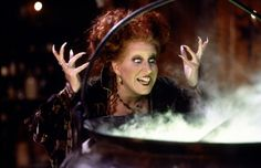 December 1: Bette Midler! Pictured here as Winifred Sanderson from 'Hocus Pocus' (1993).
