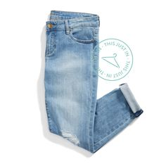 I love the light colored denim, and I don't own any slightly distressed jeans so these would be great!