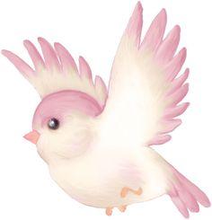 "Photo from album ""Скрап набор ""UnPeuDAmour"""" on Yandex. Vogel Clipart, Bird Clipart, Dark Art Drawings, Car Drawings, Watercolor Bird, Watercolor Landscape, Cartoon Birds, Pink Bird, Animal Paintings"