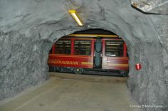 Train to Jungfrau, Top of Europe  Travel a long way through tunnels/ice.