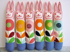 Child's scandinavian softie toy bunny rabbit plush BY  Janefoster