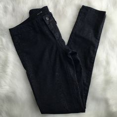 Joe's Ever Blue Reptile print Skinny Jeans New without tags! Dark blue, almost black in color. Joe's Jeans Jeans Skinny