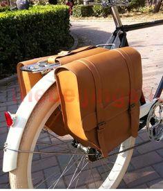 future-Vintage Bicycle Bike Leather Rear Rack Saddle Bag