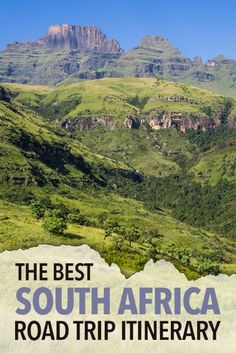 The best South Africa road trip itinerary from Johannesburg to Cape Town in one month via Kruger National Park, Drakensberg Mountains, The Wild Coast and the Garden Route. Click through for everything you need to know to plan your perfect road trip. Road Trip Adventure, Us Road Trip, Africa Destinations, Travel Destinations, Perfect Road Trip, Africa Travel, Travel And Leisure, Trip Planning, Cape Town