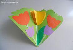 Tarjeta de flores con molde Krokotak para el Día de la madre
