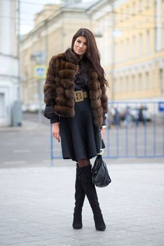 Street Style: From Russia with Love... jacket has to go , love the rest .
