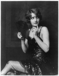 1920's flapper girl with fan