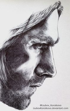 "Bucky from ""Captain America: Civil War"" poster. Done with black ballpoint pen"