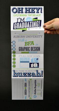 Graduation Announcements by Addison Ragsdale, via Behance