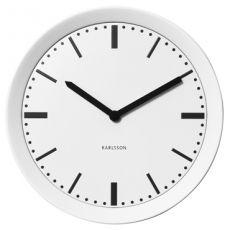 Karlsson 28cm Spun White Metal Wall Clock