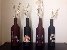 Decorative Recycled Bottles - HOME