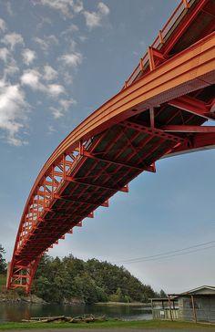 Love Bridge, Over The Bridge, Famous Bridges, Bridge Design, Rainbow Bridge, Covered Bridges, Civil Engineering, Washington State, Pathways
