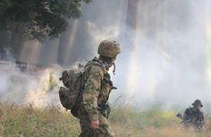 Ukrainian troops in Donbas
