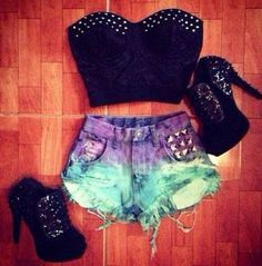 Love the shorts!!! Teen fashion Cute Dress! Clothes Casual Outift for • teenes • movies • girls • women •. summer • fall • spring • winter • outfit ideas • dates • school • parties mint cute sexy ethnic skirt