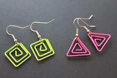 paper clip earrings for sale!