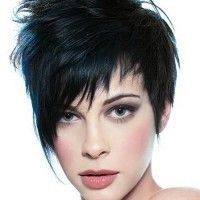short asymmetrical hairstyle for women