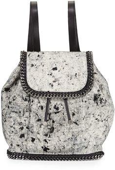 a0fb2da7a258 Stella McCartney Falabella Splash Canvas Backpack at Bergdorf Goodman Stella  Mccartney Falabella