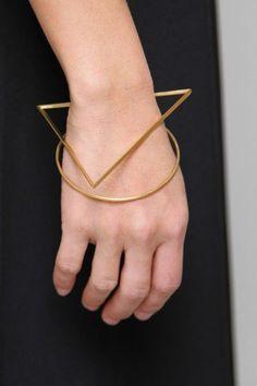 Gemma Holt. Geometric. Minimalist. Triangle bangle.