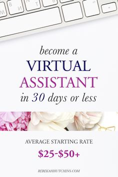 Want to work from home and make money online? Become a virtual assistant! On average, a North American VA earns between $25-$50 per hour and are in high demand with the amount of online business owners & bloggers rising! Click through to see my full review of the course: 30 Days To Virtual Assistant!