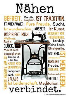Nähen verbindet. Druck Poster Nähmaschine AnneSvea Sewing Handmade Deko AnneSvea http://www.amazon.de/dp/B00U4C8FQ0/ref=cm_sw_r_pi_dp_nbq-vb1R8PCNB
