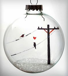 Glass Birds In Love Holiday Ornament | Home Decor | Glak Love | Scoutmob Shoppe | Product Detail