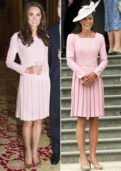 Kate Middleton's Best Fashion Repeats - Emilia Wickstead Pleated Dress from Estilo Kate Middleton, Kate Middleton Style, Diana, Princesse Kate Middleton, Pantyhosed Legs, Royal Clothing, Estilo Real, Elisabeth, Prince William And Kate