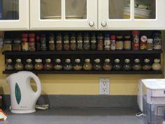 Under Cabinet Spice Rack Happy Home: DIY Project Tutorials