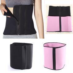 Zipper Slimming Body Shaping Girdle Corset Belt Waist Tummy Belly Cincher