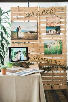 a wedding show booth created with crates #weddingshow #crates                                                                                                                                                     More