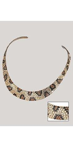 Leopard Print Crystal Necklace (Diy Necklace Crystal)