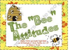"This is a bee-themed (""Bee-attitudes"") resource 2.50"
