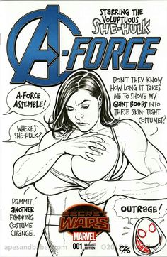 """A-Force #1: She-Hulk variant cover Frank Cho """"outrage"""" (MG)"""