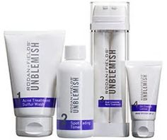 UNBLEMISH REGIMEN FOR ACNE Take control of adult acne with UNBLEMISH Regimen. A complete Multi-Med® Therapy solution, the UNBLEMISH Regimen is clinically tested to help stop blackheads and pesky pimples before they become visible on skin's surface. Found to combat the entire acne cycle, this sophisticated Regimen helps unclog pores, calm your complexion and keep adult acne from making unwelcome appearances on your face. UNBLEMISH Regimen combines cosmetic and active OTC ingredients to…