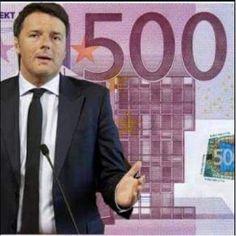 ilsolofrano: Renzi, i 500 euro e l'hashtag #A18VotoM5S
