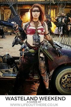 Mad Max style, postapocalyptoc adventures, badass stories and travel tips- click… Mad Max Cosplay, Mad Max Costume, Post Apocalyptic Clothing, Post Apocalyptic Fashion, Fallout, Wasteland Warrior, Apocalypse World, Wasteland Weekend, Badass Outfit