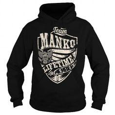 Cool Last Name, Surname Tshirts - Team MANKO Lifetime Member Eagle T-Shirts
