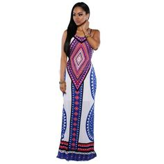 6cf787130f Maxi Dresses Sexy Print Long Dress Plus Size. Vestidos SexyVestido ...