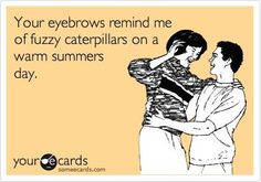 Your eyebrows remind me of fuzzy caterpillars on a warm summer day. The Waxing Company, Pompano Beach, Fl. 33062