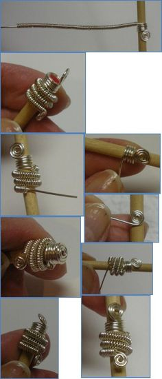 How to Make bead caps from scratch #wirework #diy