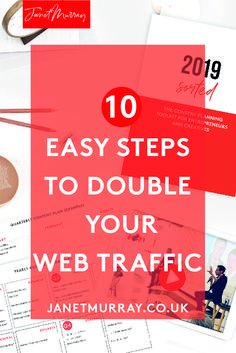If you have struggled with getting more visitors to your website in 2018, you may be planning to make this a goal for 2019. I have this 10 step plan to help you increase your website traffic to double what it has been. If more website traffic equals more sales for you, you need to click and read this post on ten easy steps for doubling your website traffic! #websitetraffic #onlinebusiness #smallbusiness #bloggingtips