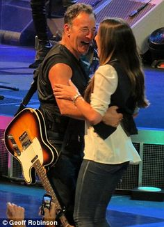 """2. Bruce Springsteen dances with his daughter Jessica on stage to """"Dancing in the Dark""""  : )"""