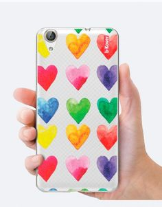 funda-movil-corazones-acuarela-multicolor Phone Cases, Watercolor, Collection, See Through, Fashion Prints, Mobile Cases, Watercolor Painting, Hearts, Pen And Wash
