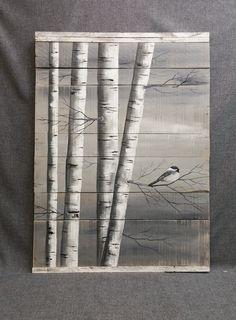Gris Art palette peinture de bouleau blanc par TheWhiteBirchStudio