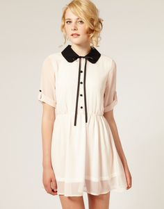 Light and breezy dresses with distinctive collars. #inspiration #asos